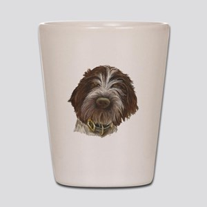 Wirehaired Pointing Griffon Shot Glass