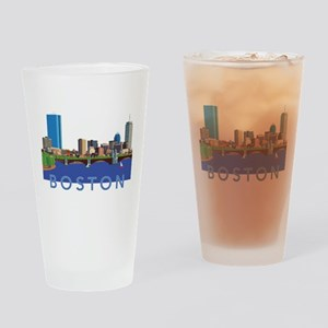 Cool Crisp Illustration of the Back Drinking Glass