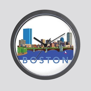 Cool Crisp Illustration of the Back Bay Wall Clock