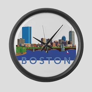 Cool Crisp Illustration of the Ba Large Wall Clock