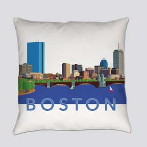 Cool Crisp Illustration of the Bac Everyday Pillow
