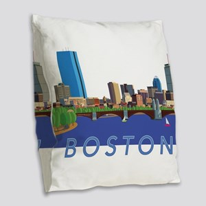 Cool Crisp Illustration of the Burlap Throw Pillow