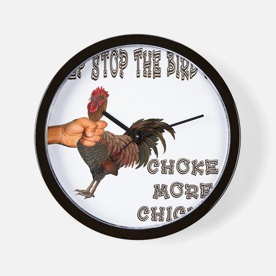Help Stop Bird Flu Choke More Wall Clock