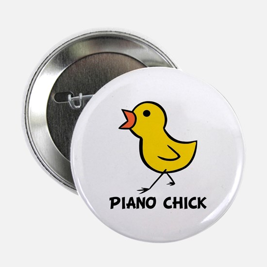 "Piano Chick 2.25"" Button"