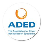 ADED Logo Round Car Magnet