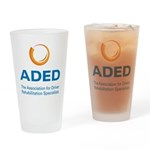 ADED Logo Drinking Glass
