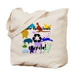 Save the Animals Reusable Canvas Tote Bag