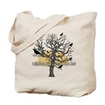 Primitive Style Crows & Trees Reusable Tote Ba