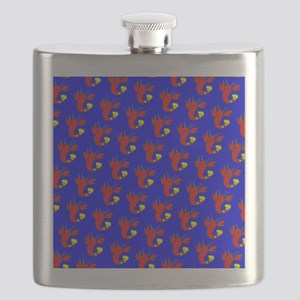 Blue Red Lobster Cuties 4Bud Flask