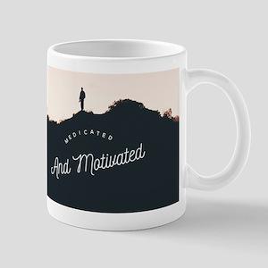 Medicated and Motivated long Mugs