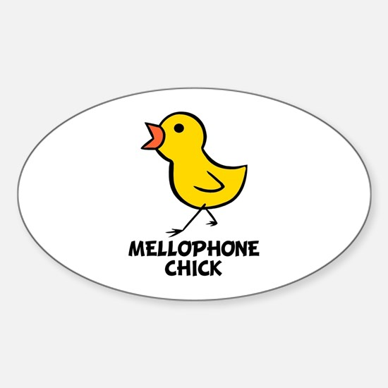 Mellophone Chick Oval Decal