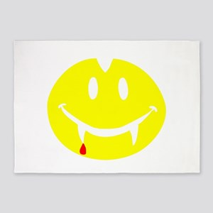Vampire Dracula smiley 5'x7'Area Rug