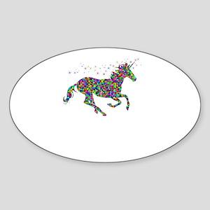 Unicorn del Mar Colorful Sticker