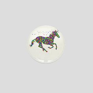 Unicorn del Mar Colorful Mini Button