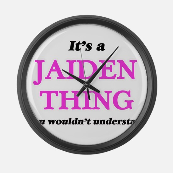 It's a Jaiden thing, you woul Large Wall Clock
