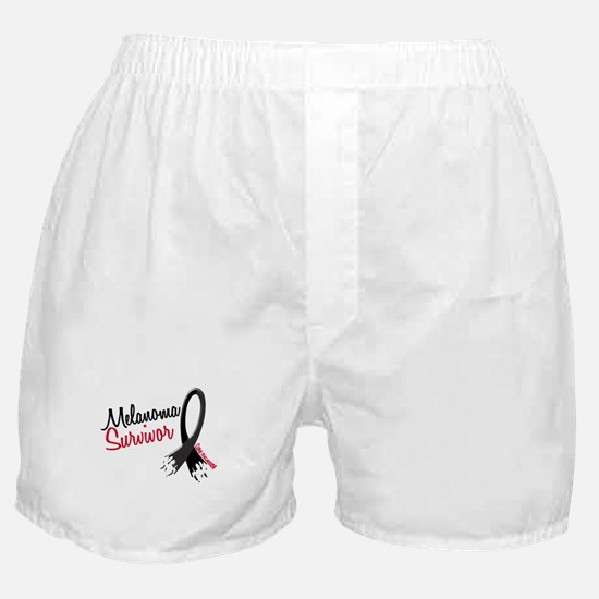 Melanoma Survivor Frayed Ribbon Boxer Shorts