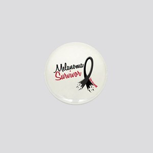 Melanoma Survivor Frayed Ribbon Mini Button