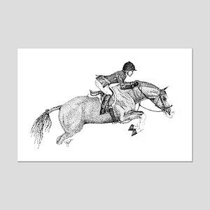 Hunter Pony Art Mini Poster Print
