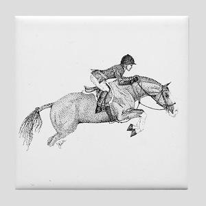 Hunter Pony Art Tile Coaster