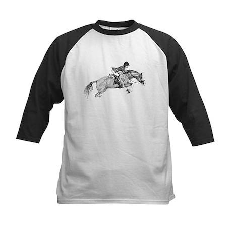 Hunter Pony Art Kids Baseball Jersey