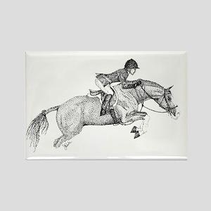 Hunter Pony Art Rectangle Magnet