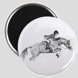 Hunter Pony Art Magnet