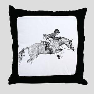 Hunter Pony Art Throw Pillow