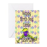 Leap Year Baby Birth Announcment Greeting Cards