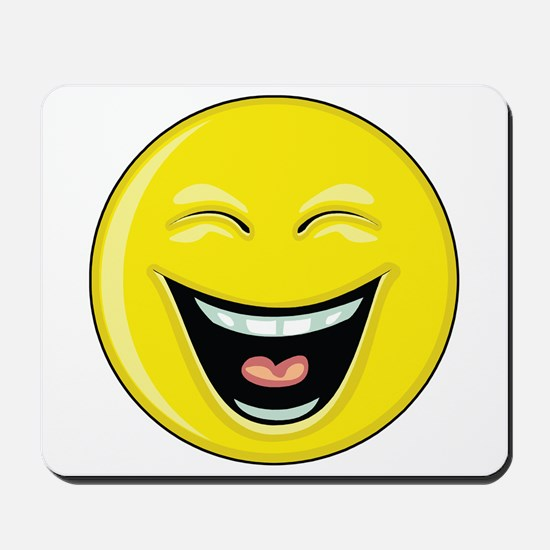 """Smiley Face - """"LOL"""" Laughing Mousepad"""