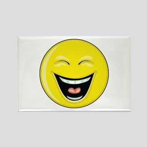 "Smiley Face - ""LOL"" Laughing Rectangle Magnet"