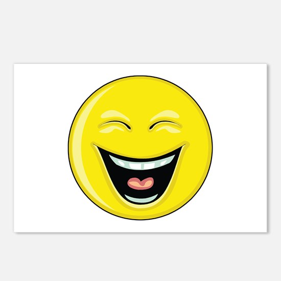 """Smiley Face - """"LOL"""" Laughing Postcards (Package of"""