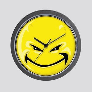 Smiley Face - Yellow Devil Wall Clock