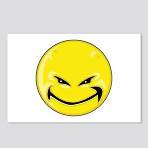 Smiley Face - Yellow Devil Postcards (Package of 8