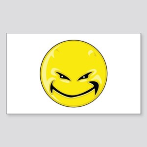 Smiley Face - Yellow Devil Rectangle Sticker