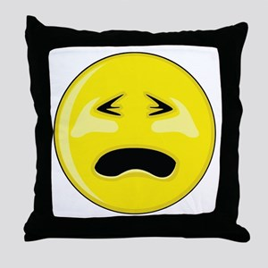 Smiley Face - Crying Throw Pillow