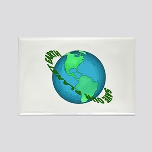 Save Our Planet Earth Rectangle Magnet