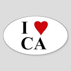 California (CA) Oval Sticker