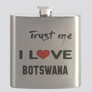 Trust me I Love Botswana Flask