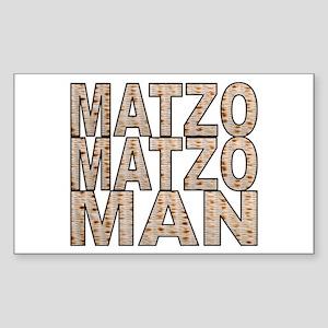 Matzo Matzo Man Rectangle Sticker