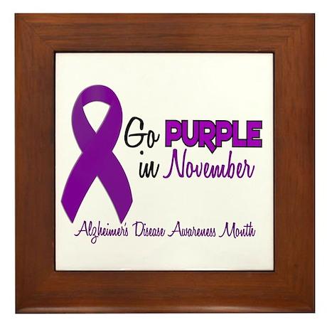 Alzheimers Awareness Month 1.2 Framed Tile