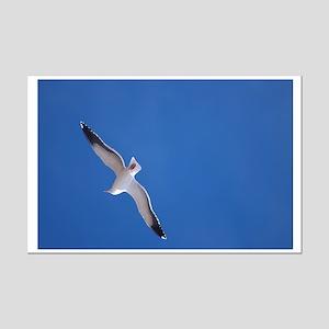 Flying Gull Mini Poster Print