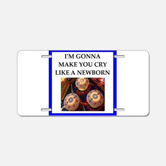 Pin ball joke Aluminum License Plate