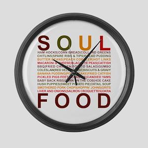 Soul Food II Large Wall Clock