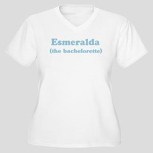 Esmeralda the bachelorette Women's Plus Size V-Nec