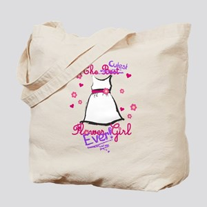 Cutest Flower Girl Ever! Purple Tote Bag