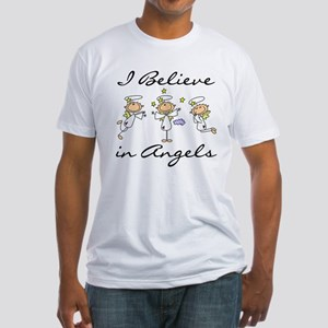I Believe in Angels Fitted T-Shirt