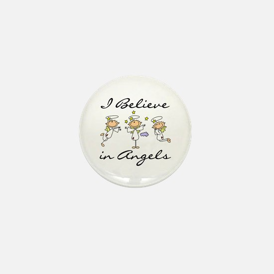 I Believe in Angels Mini Button