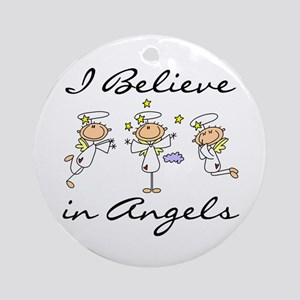 I Believe in Angels Ornament (Round)