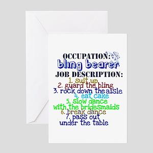 Occupation Bling Bearer Blue Greeting Card