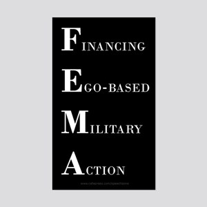FEMA Rectangle Sticker